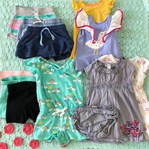 Lot of summer toddler girl clothes